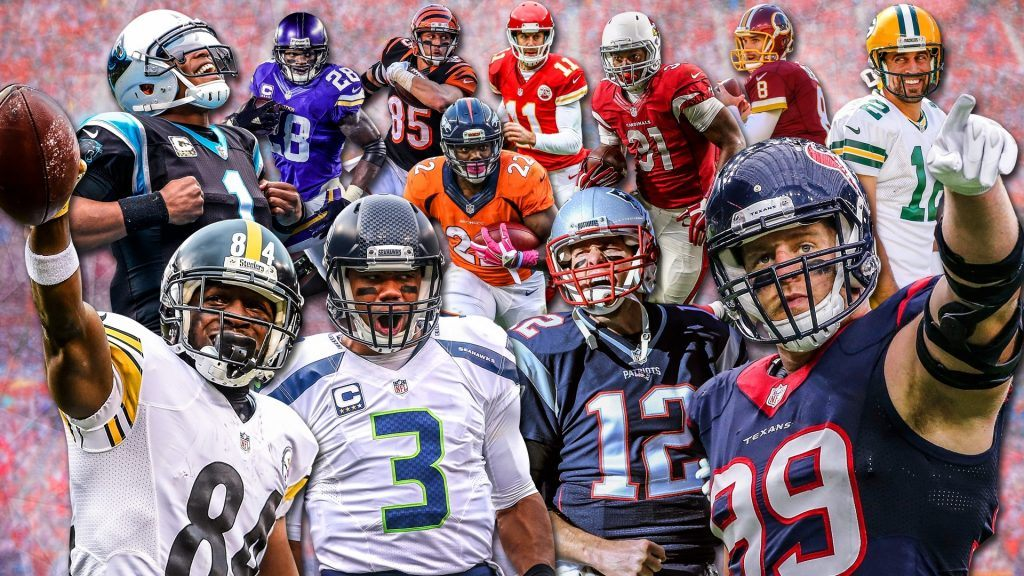 nfl players collage