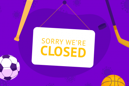 sorry we're closed sport sign