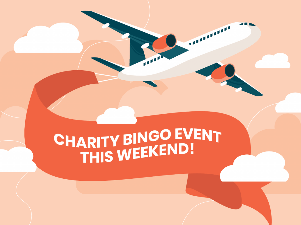 Aeroplane promoting bingo charity event