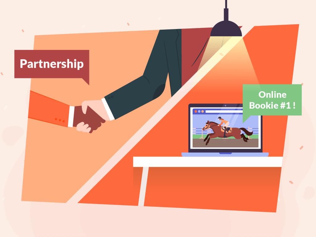 Online bookie vs partnership