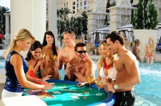 Some Vegas casino are now offering poolside 'swim up' blackjack to keep their younger audience enticed. (Source: foxnews.com)