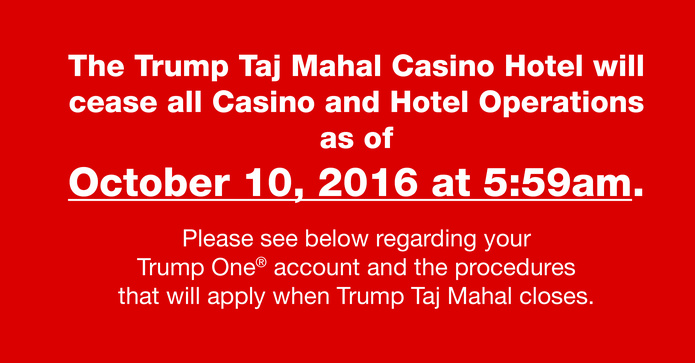 Taj Mahal Customer Information