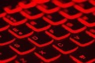 Red computer keys