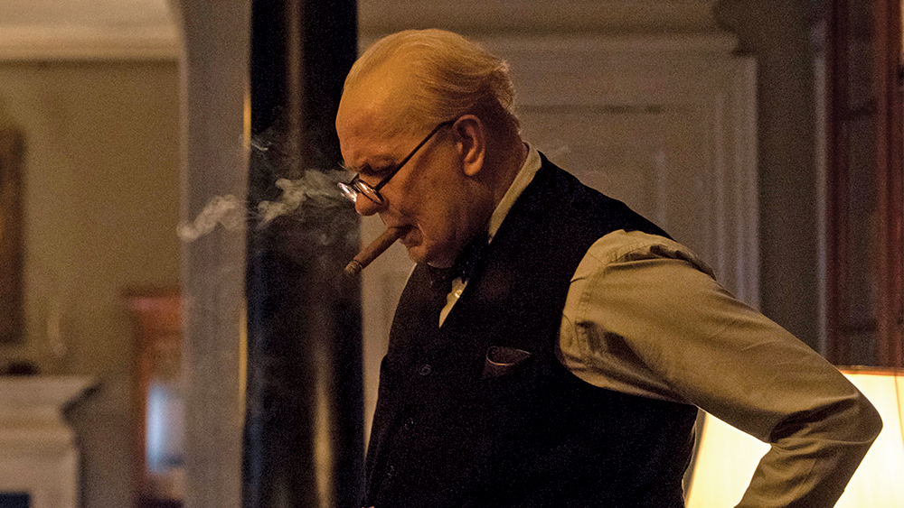 Gary Oldman featuring in the film The Darkest Hour