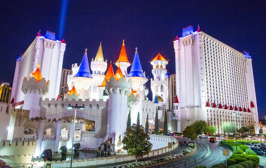 Excalibur medieval themed hotel vegas