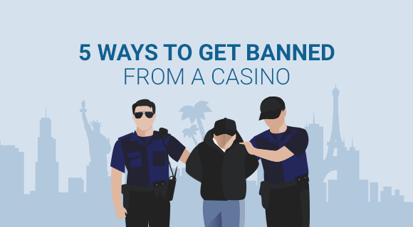 getting banned from a casino title image with someone being arrested