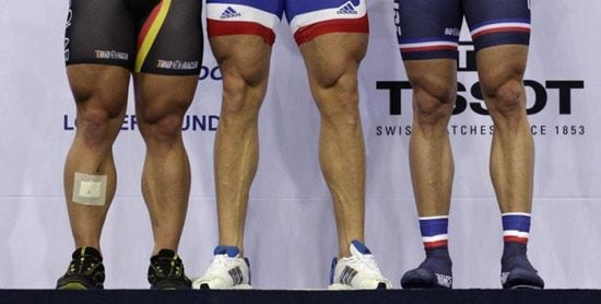 legs of cyclists