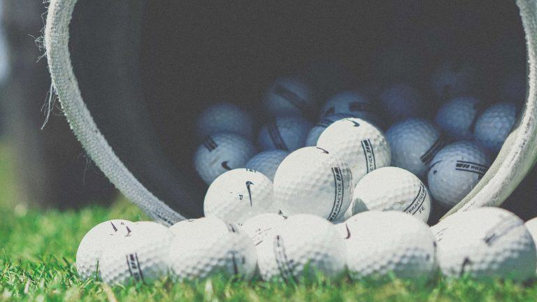 close up photo of golf balls