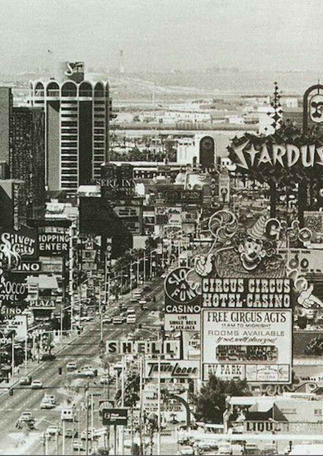 Vintage photo of Las Vegas