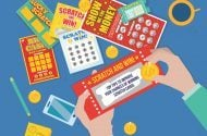 Illustration of person doing scratch cards