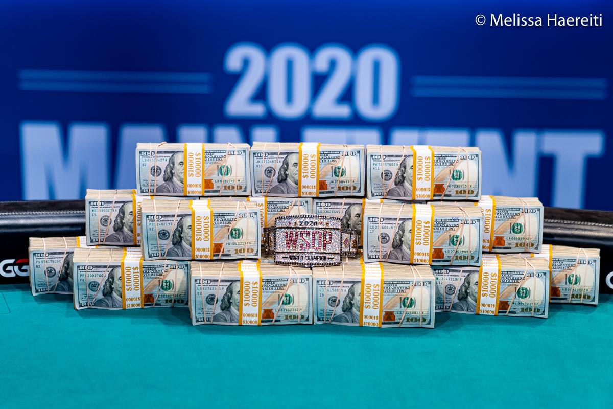 WSOP 2020 prize money