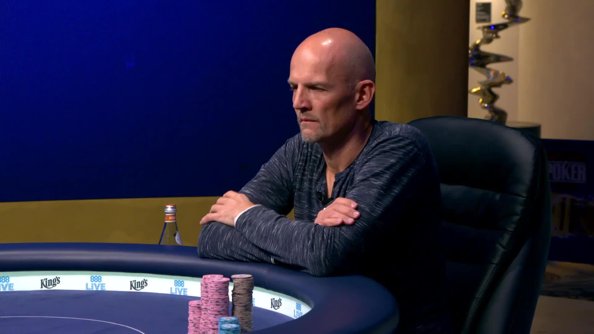 Pokerspieler Andreas Eiler aus Deutschland bei einem Poker Event