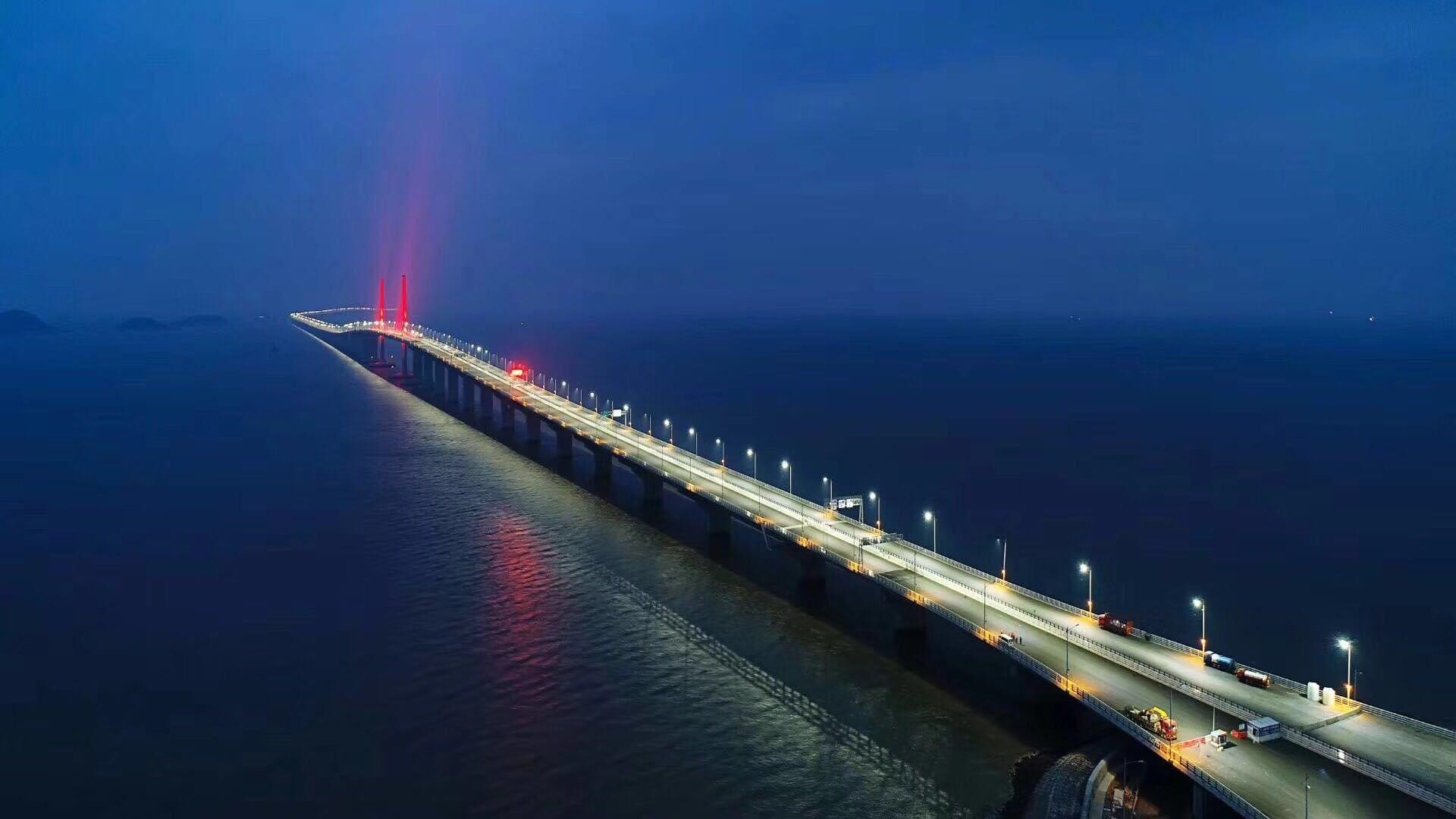 Die Hongkong-Zhuhai-Macao-Brücke zwischen Hong Kong und Macau