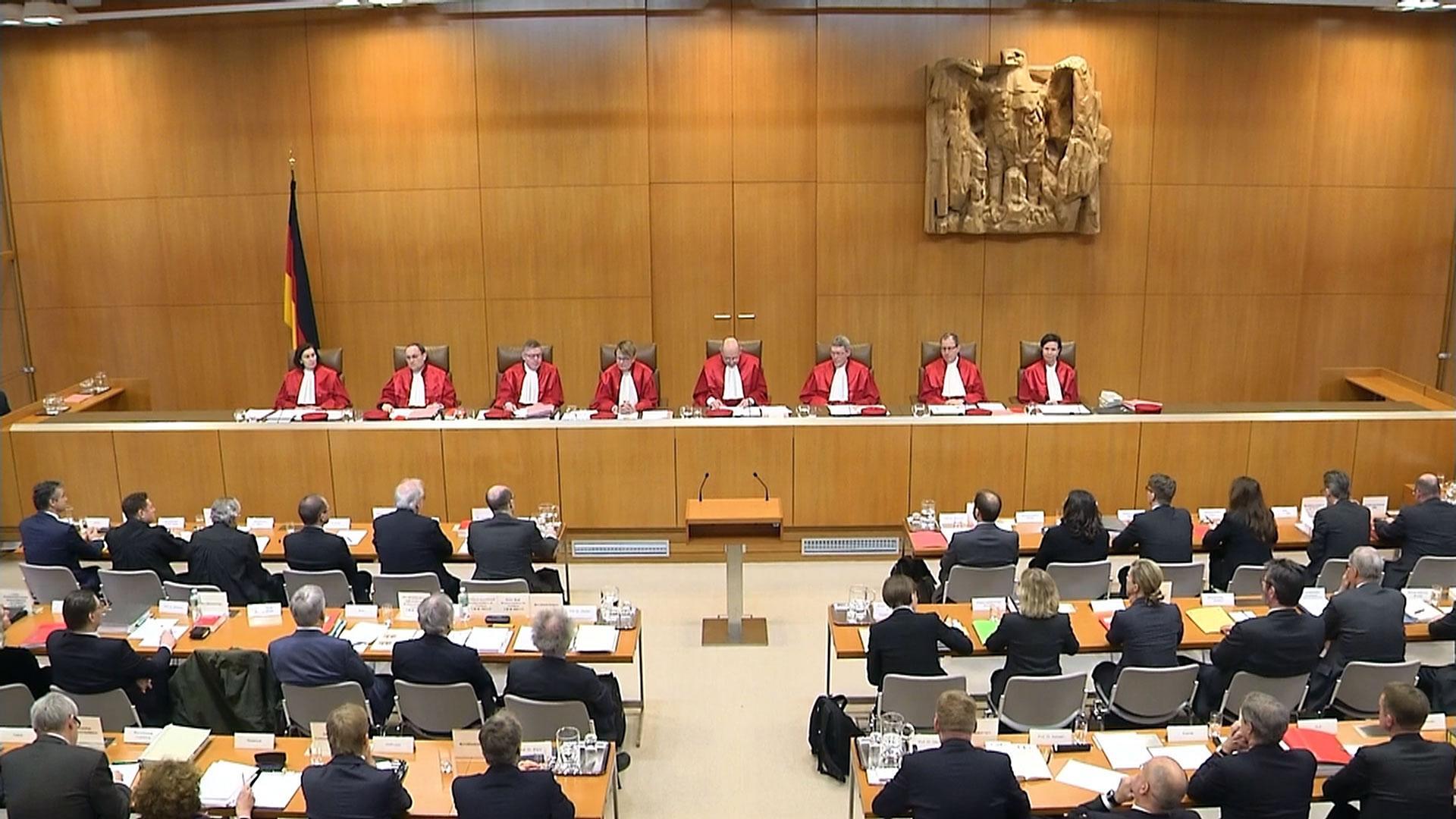 Richter im Bundesverfassungsgericht in Karlsruhe