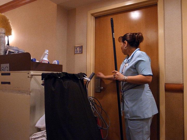 Zimmermädchen im Hotel in Las Vegas
