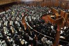 Die Abgeordneten des japanischen Unterhauses bei einer Sitzung
