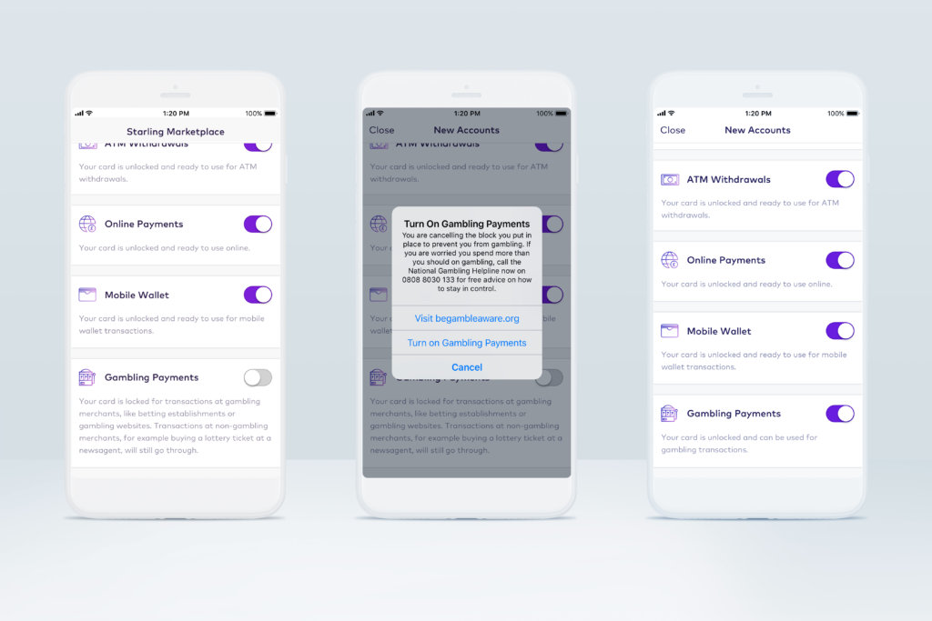 Screenshot Starling Bank