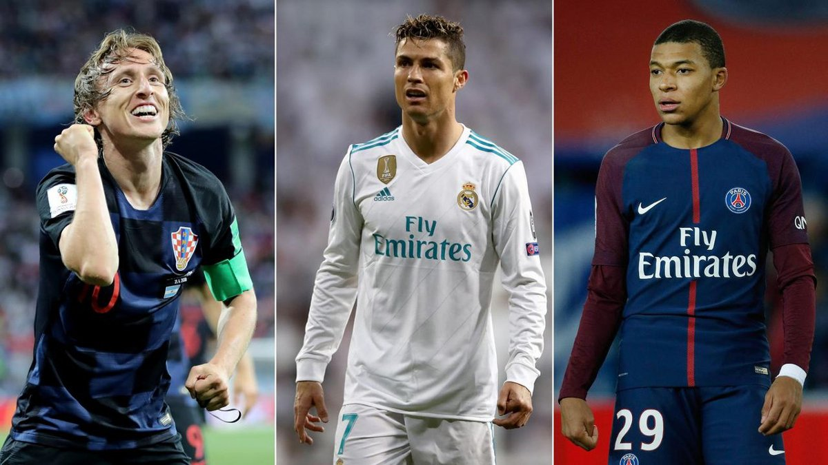 Modric, Ronaldo, Mbappe