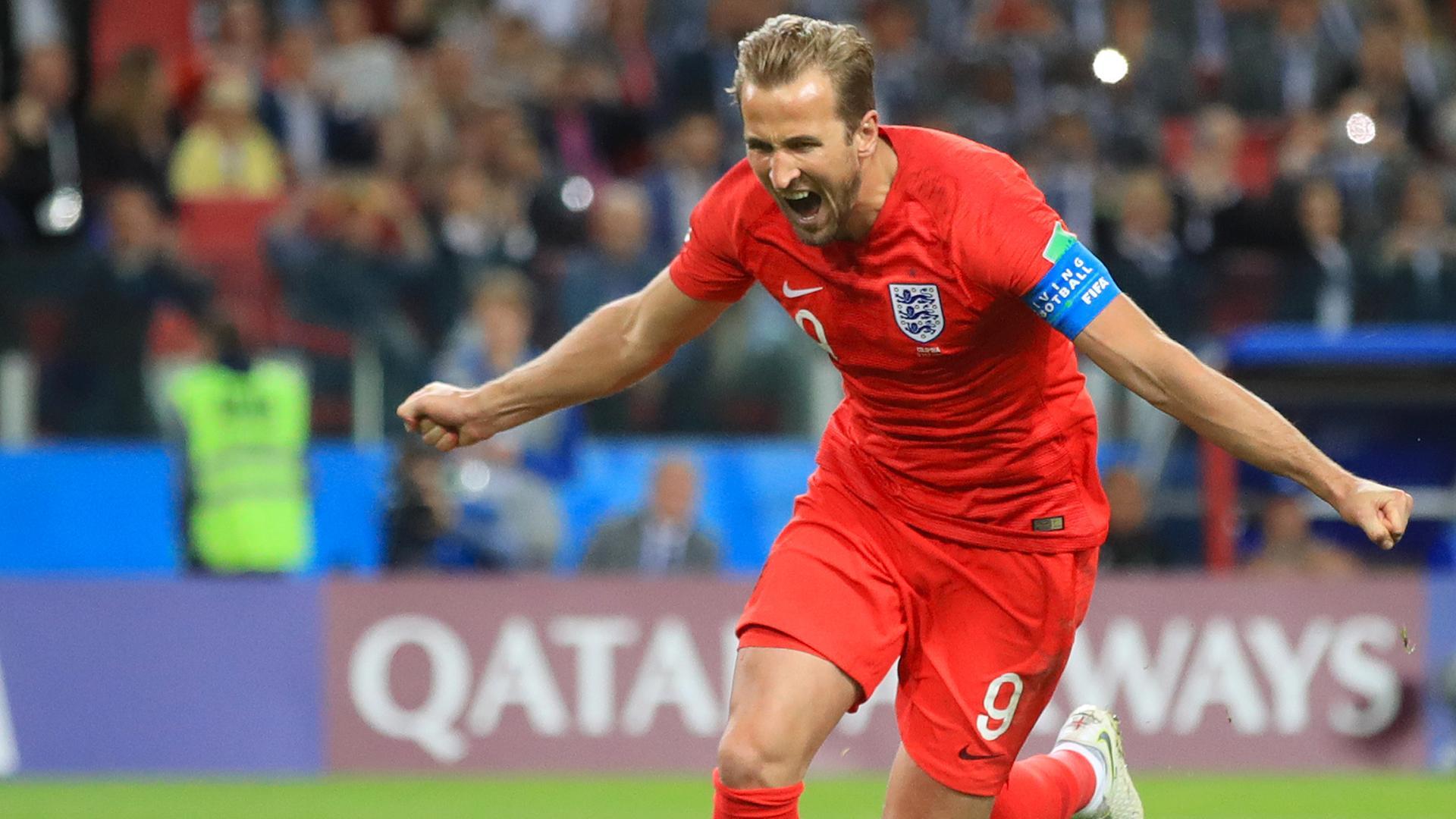Fußballspieler Harry Kane bei der WM in Russland