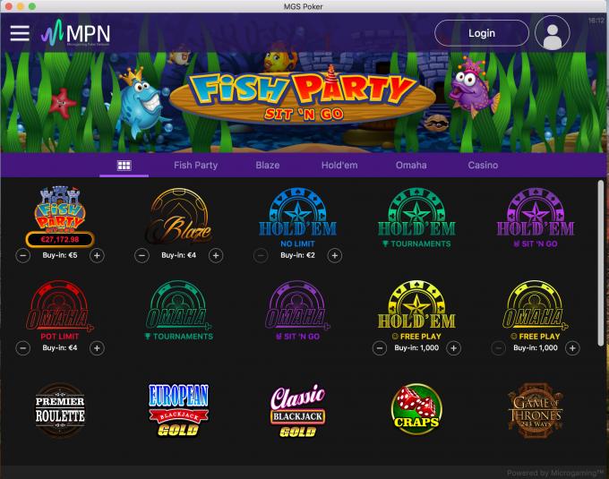 Prima Poker Lobby