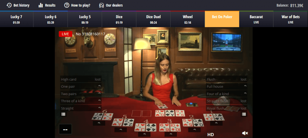 Bet on Poker von BetGames.TV