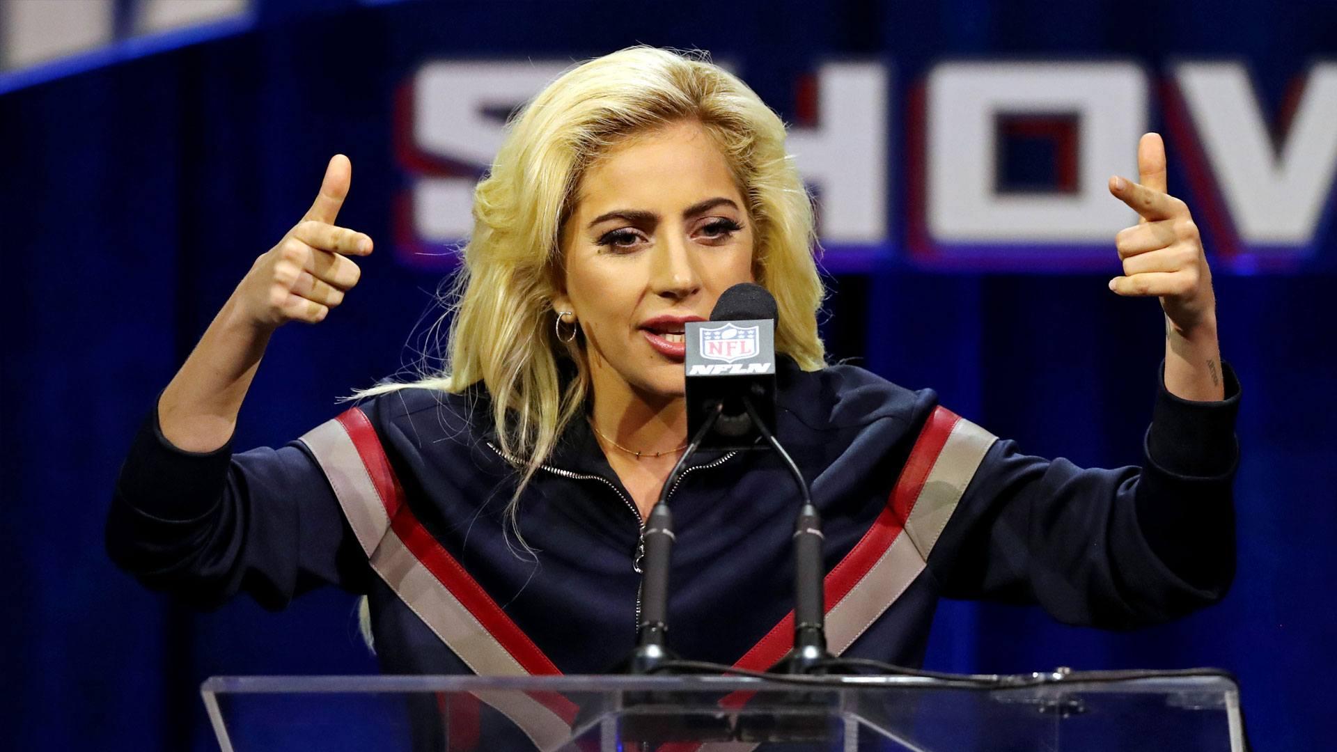 Popstar Lady Gaga bei einem Event