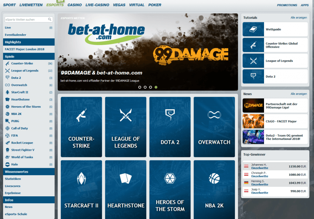 eSports bei bet-at-home