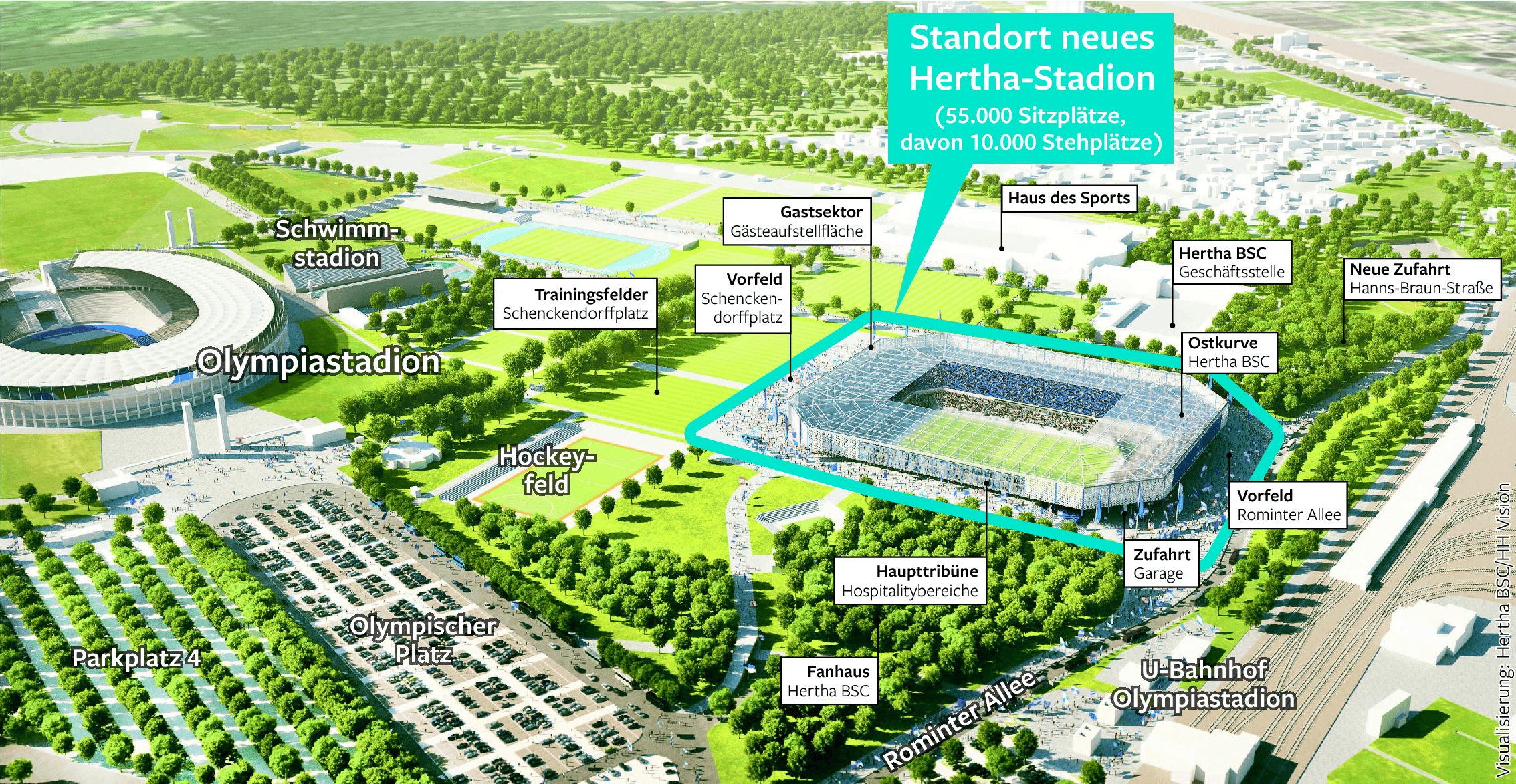 Plan Neues Hertha BSC-Stadion