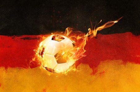 Ball und deutsche Fahne
