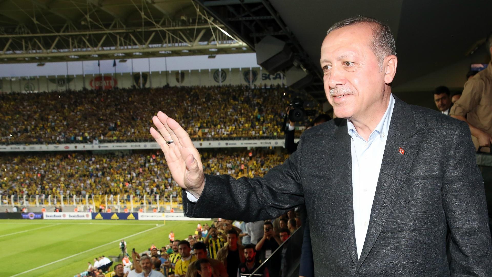 Erdoğan in Fußballstadion