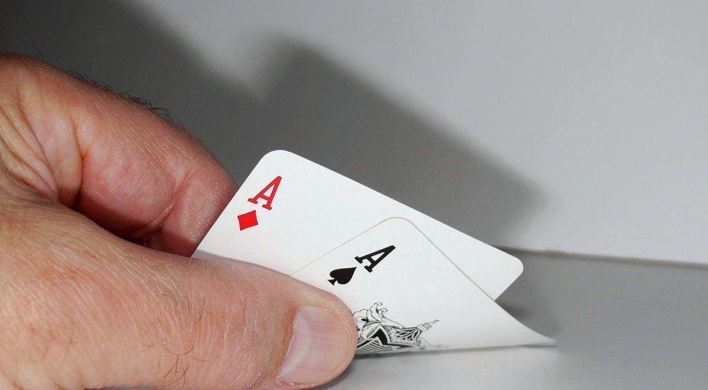 Pokerhand Asse