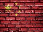 China Flagge Mauer