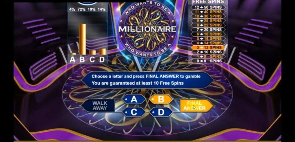 Who Wants to be A Millionaire Bonusspiel