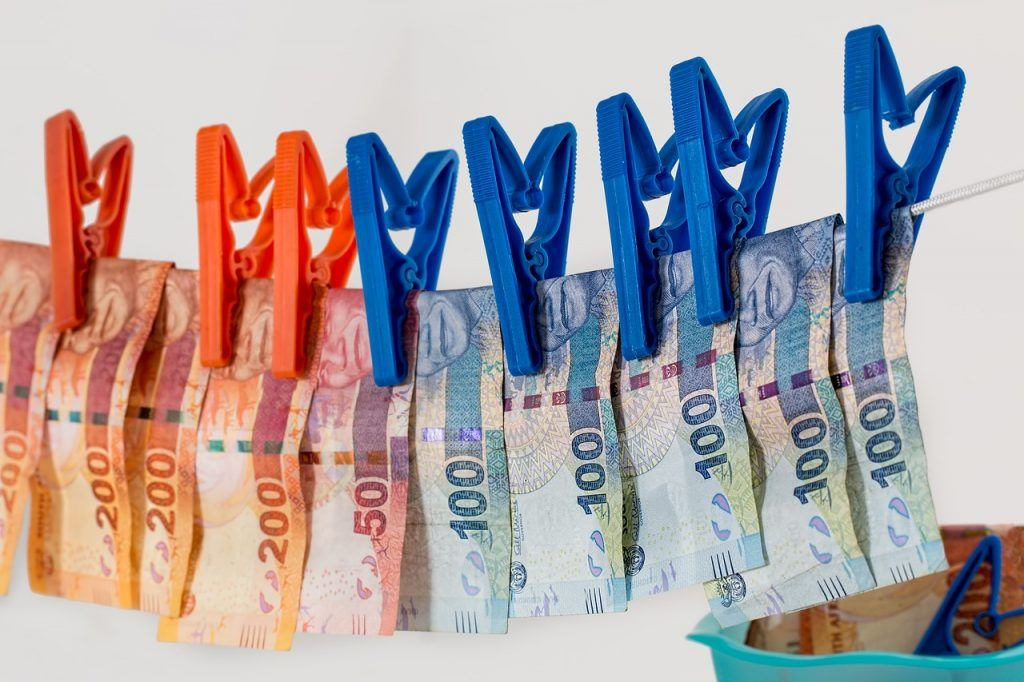 Geld Wäscheleine