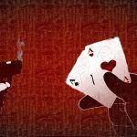 Pokerkarten, Pistole