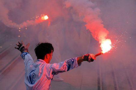 Fan, bengalisches Feuer