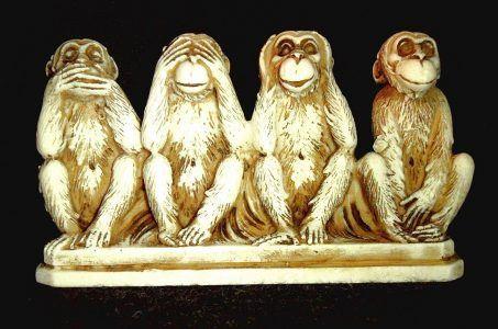 Vier weise Affen