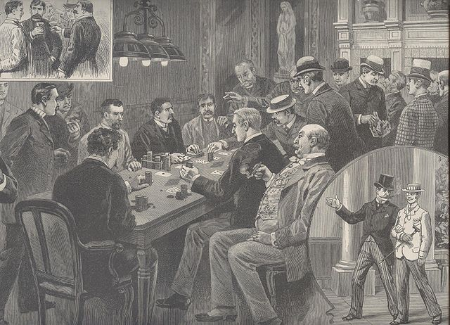 Faro-Partie in New Jersey, 1889