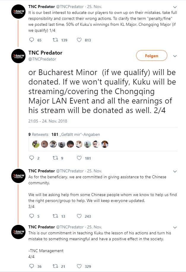Tweet TNC Predator