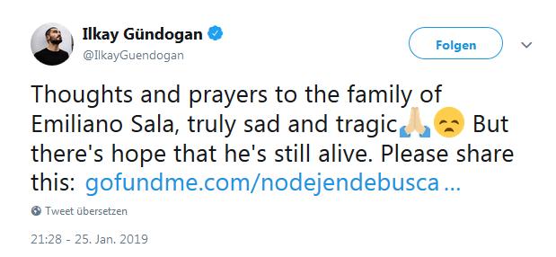 Twitter Post Gündoğan
