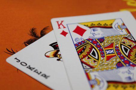 Spielkarten mit Koenig