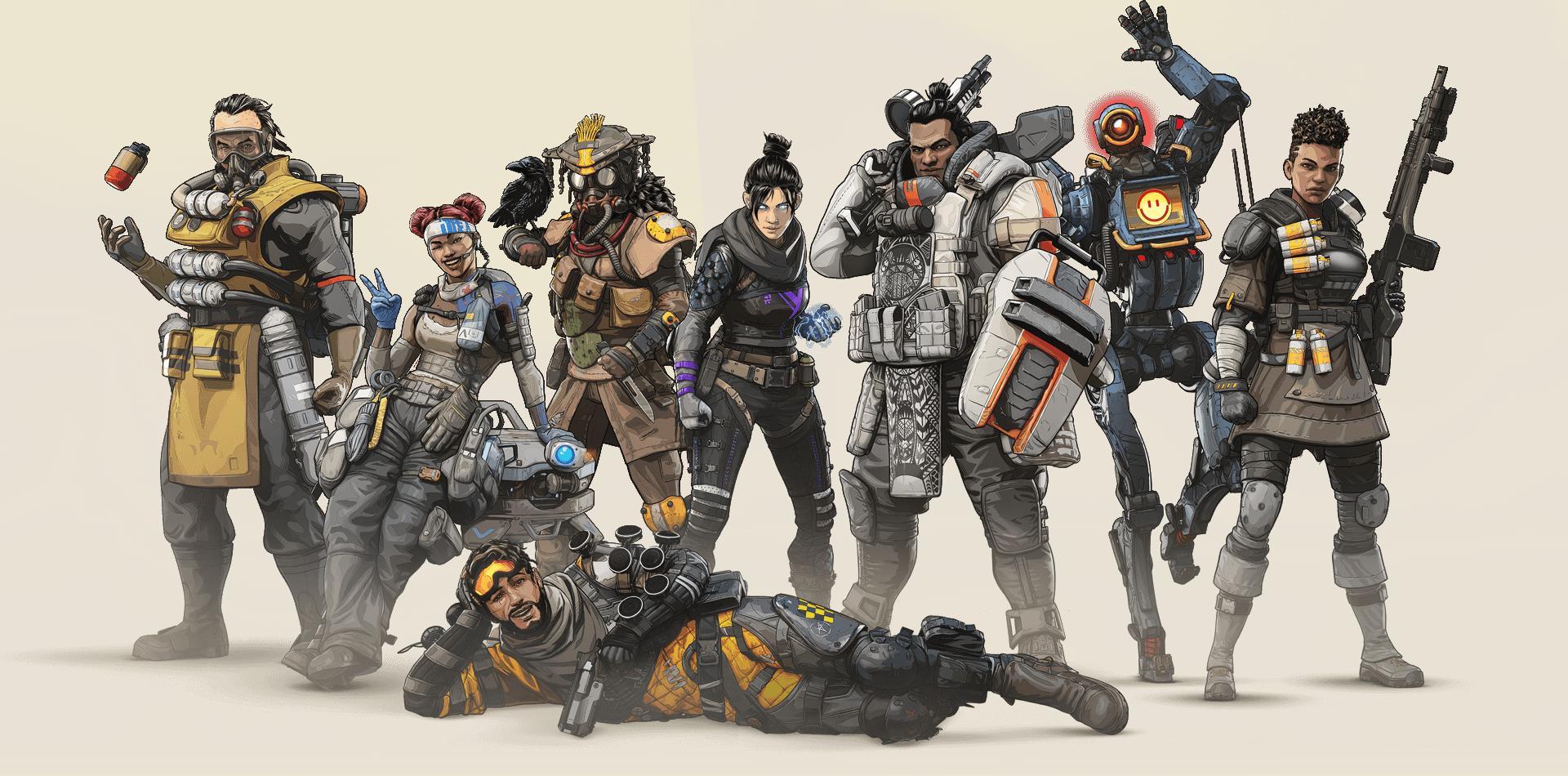 Charaktere von Apax Legends
