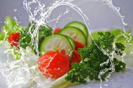 Gurken, Tomaten, Salat