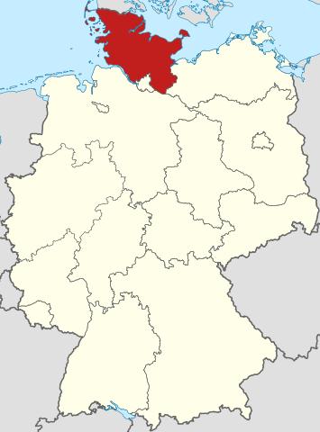 Deutschlandkarte Schleswig-Holstein