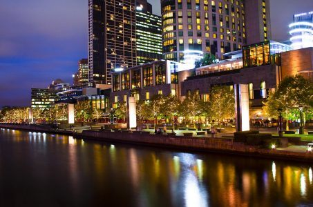Crown Casino Melbourne bei Nacht