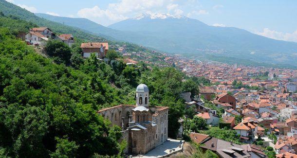 Blick auf Pristina, Kosovo