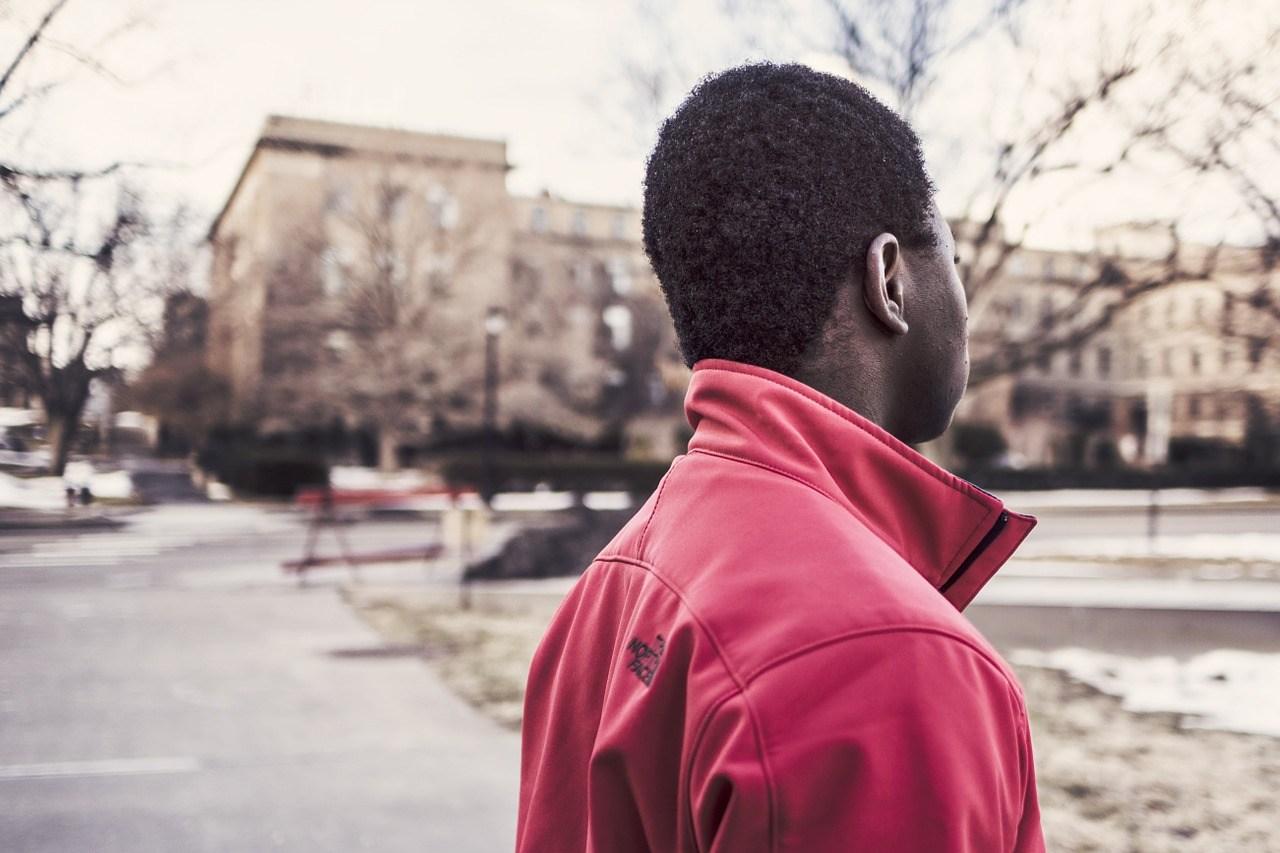 Afro-Amerikaner Halbprofil