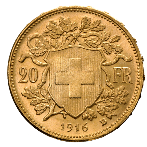 Schweizer Goldmünze Goldvreneli