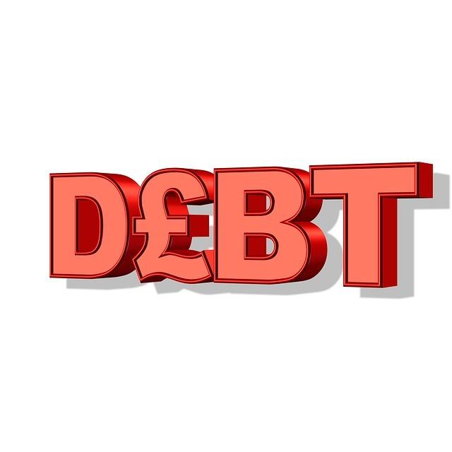 Schriftzug Debt