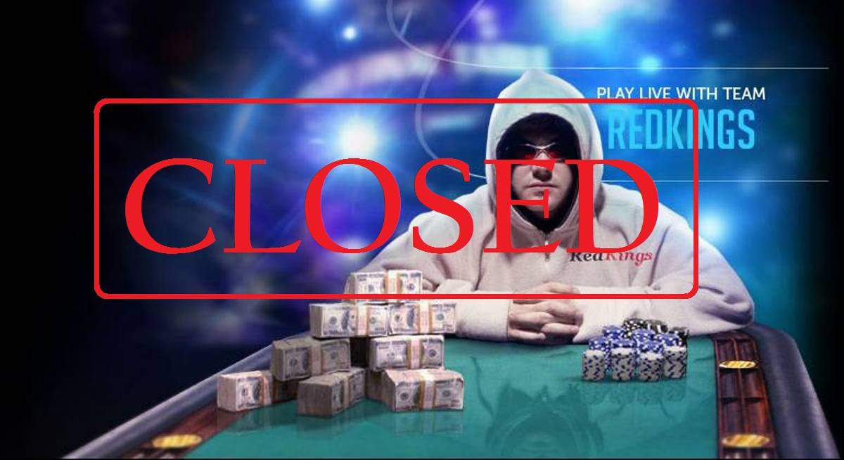 RedKings Poker Label, closed
